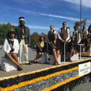 Festive float at the Bowie State University homecoming parade