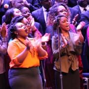 BSU Gospel Choir singers