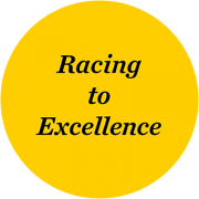 racing to excellence scholarship emblem