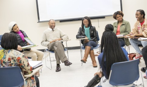 social work students and professor at bowie state university