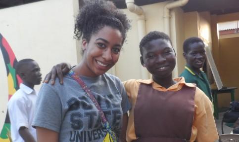 bsu social work student volunteering