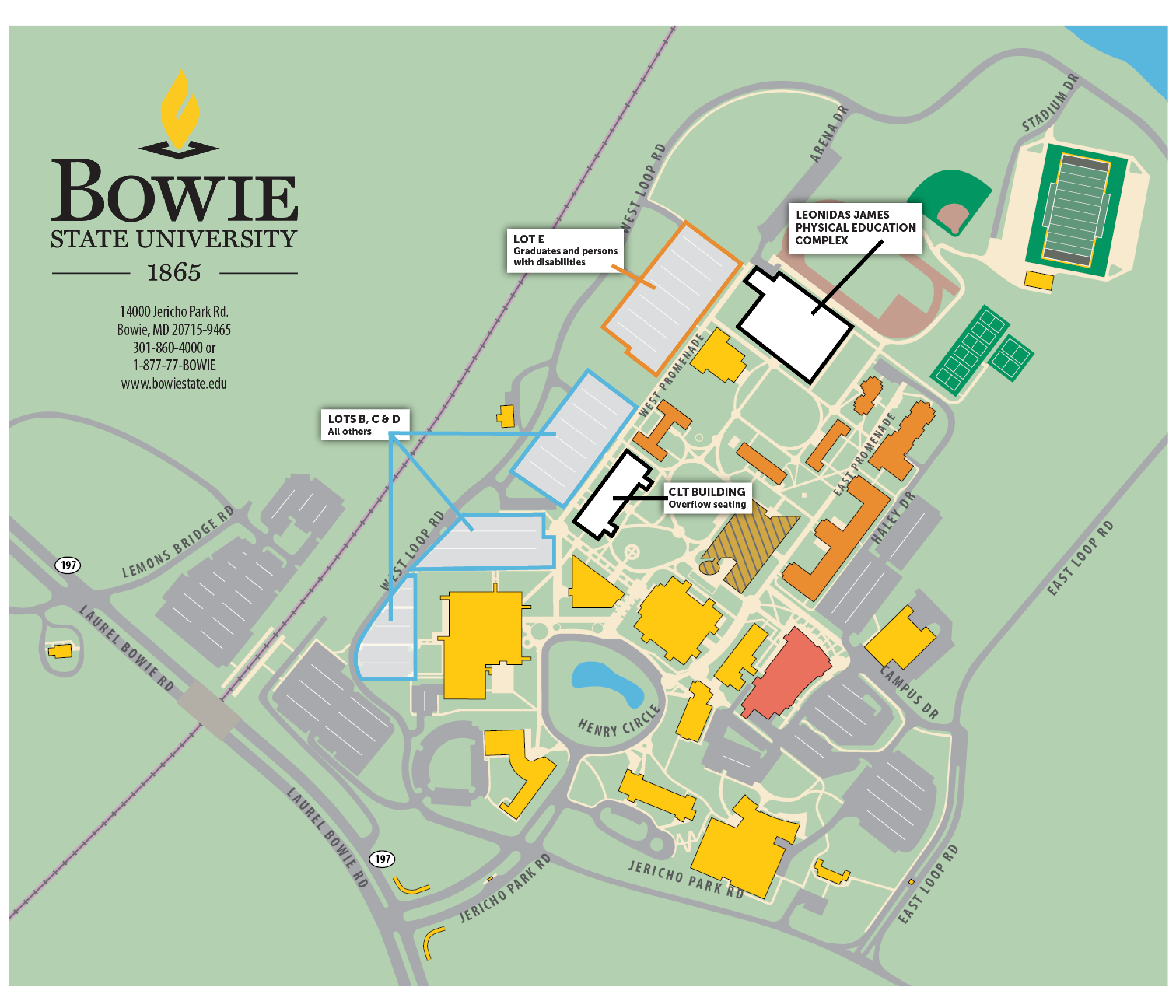 Winter Directions Maps Parking Bowie State University