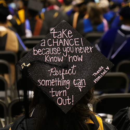 mortarboard at bowie state university commencement