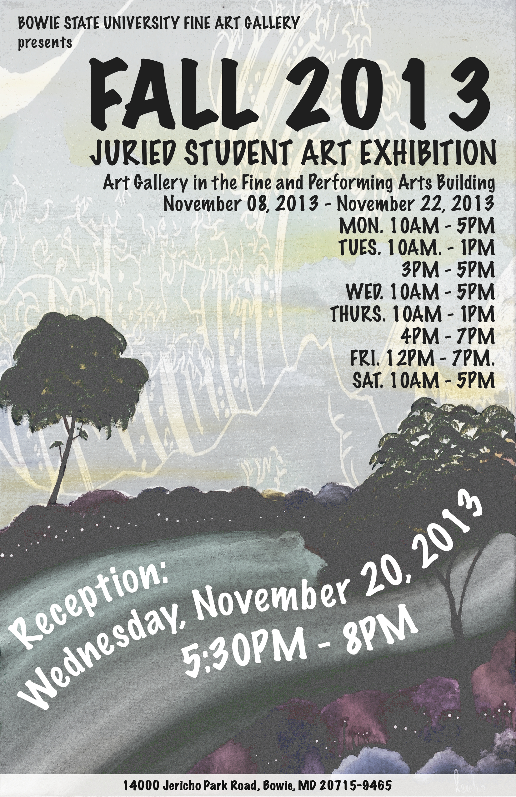 Student Art Exhibition Flier