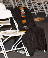 empty chair at the bowie state commencement ceremony in honor of richard collins