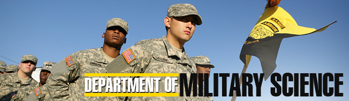 department of military science header image