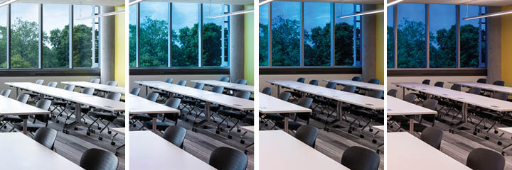 dynamic glass in a classroom