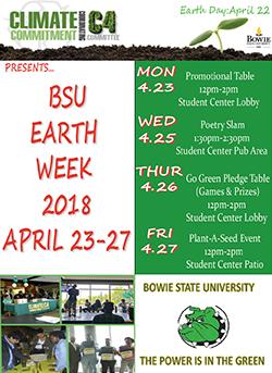 earth week 2018 flyer