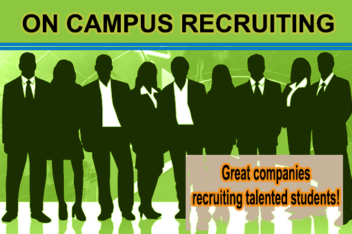 On campus recruiting header