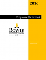 2016 Bowie State University employee handout
