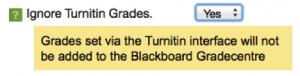 Ignore TTI grades