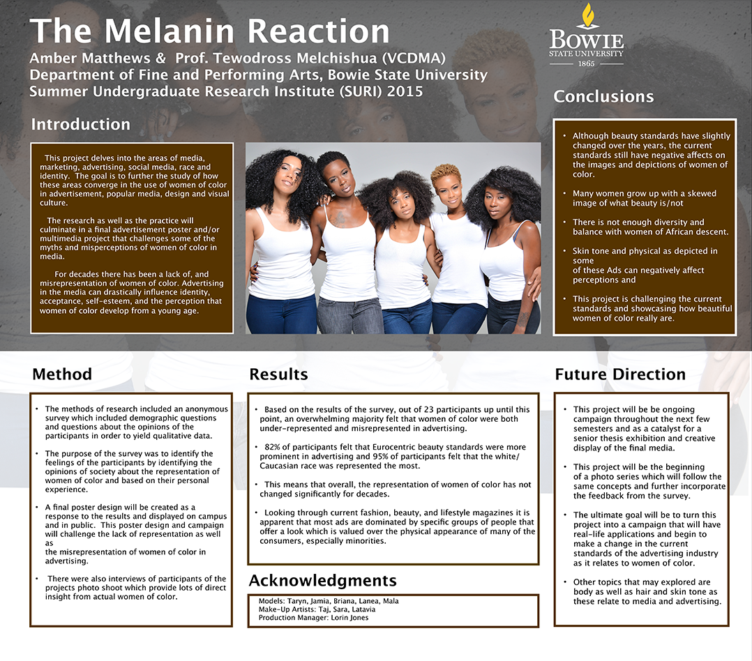 "Ei2: SURI Grant, Research by Amber Matthews, Class of 2018, ""The Melanin Reaction"""