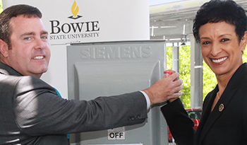 solar panel opening ceremony at bowie state university