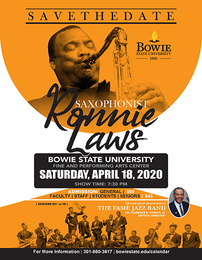 Ronnie Laws Concert Flyer