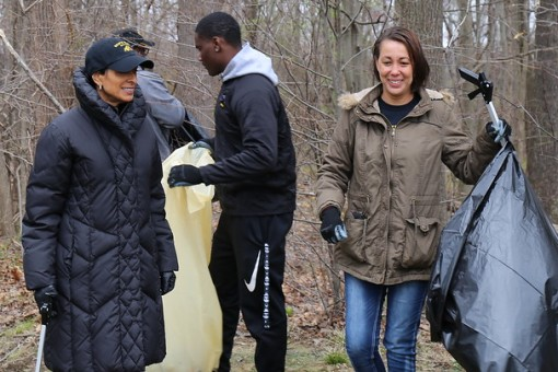 BSU Community cleans up local watershed