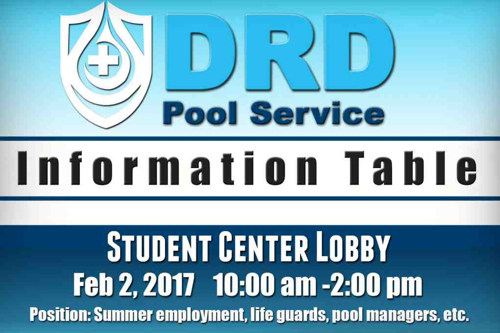 DRD Pool Service Information Table