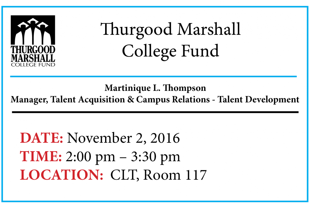 TMCF Thurgood Marshall College Fund Martinique L Thompson