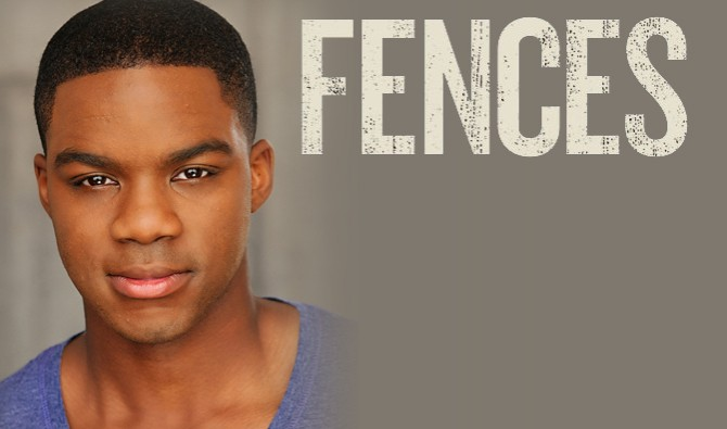 Headshot of Jovan Adepo with Fences written next to his picture
